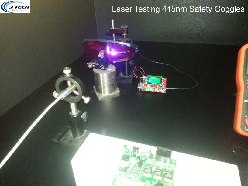Laser Testing 445nm Goggles