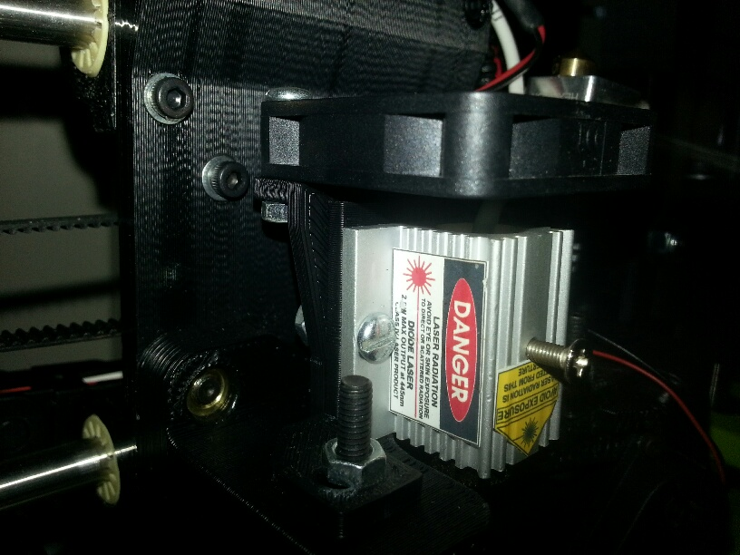 9 attach laser to mount on extruder plate